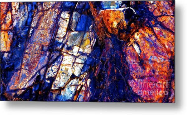 Rocky Color Explosion Metal Print