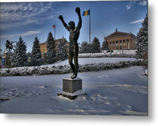Rocky In The Snow Metal Print