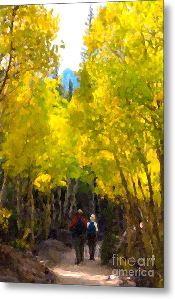 Rocky Mountain Hike Metal Print