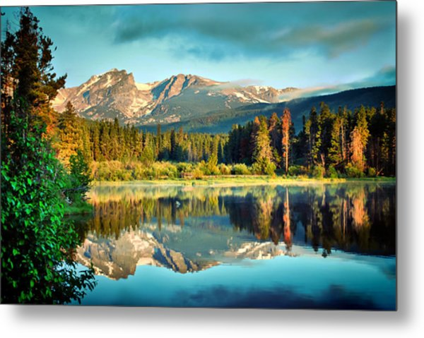 Rocky Mountain Morning - Estes Park Colorado Metal Print