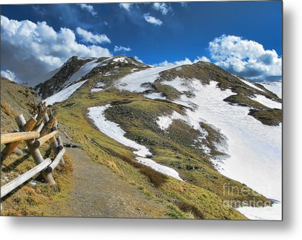 Rocky Mountains Path Metal Print