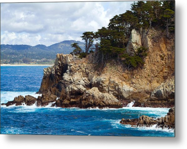 Rocky Outcropping At Point Lobos Metal Print