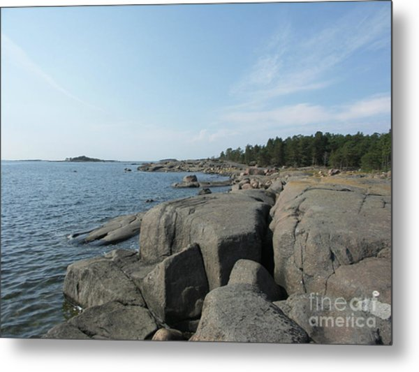 Rocky Seashore 2 In Hamina  Metal Print