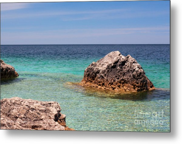 Rocky Shoals Of Tobermory Metal Print