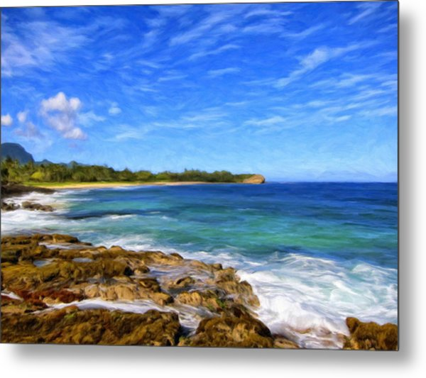 Rocky Shore Near Poipu Metal Print