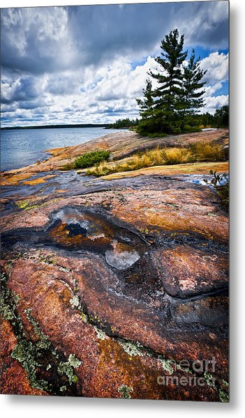 Rocky Shore Of Georgian Bay Metal Print