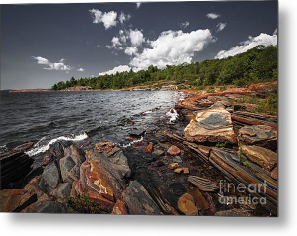 Rocky Shore Of Georgian Bay I Metal Print