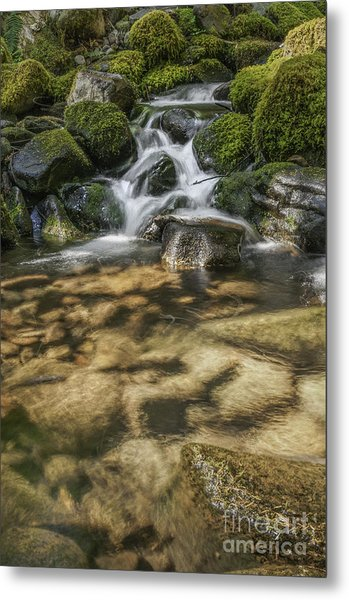 Rocky Waterfall Metal Print