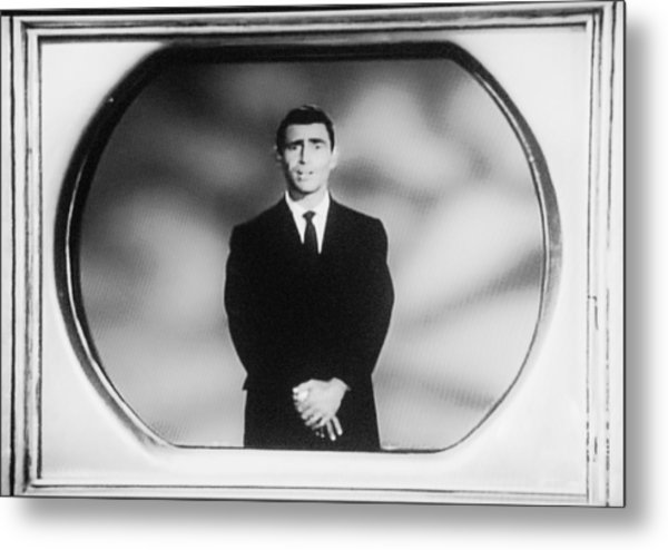 Metal Print featuring the photograph Rod Serling On T V by Rob Hans