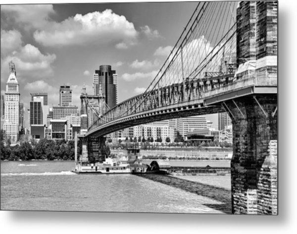 Roebling Bridge Metal Print