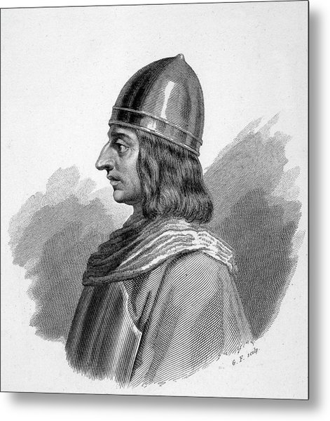 Roger I, (ruggiero) Guiscard  Norman Metal Print by Mary Evans Picture Library