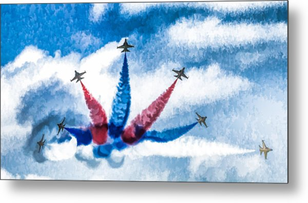 Rokaf Oil Painting Metal Print