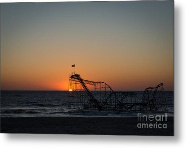 Roller Coaster Sunrise 2 Metal Print