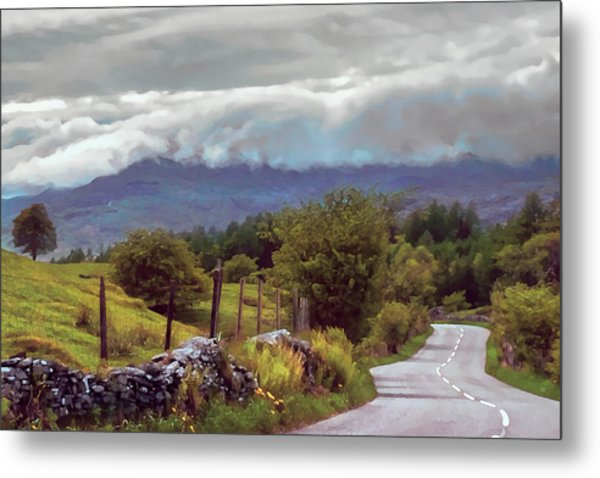 Rolling Storm Clouds Down Cumbrian Hills Metal Print