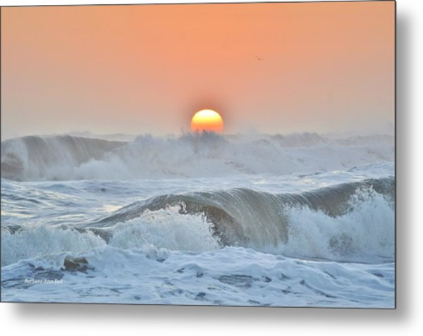 Rolling Waves Metal Print