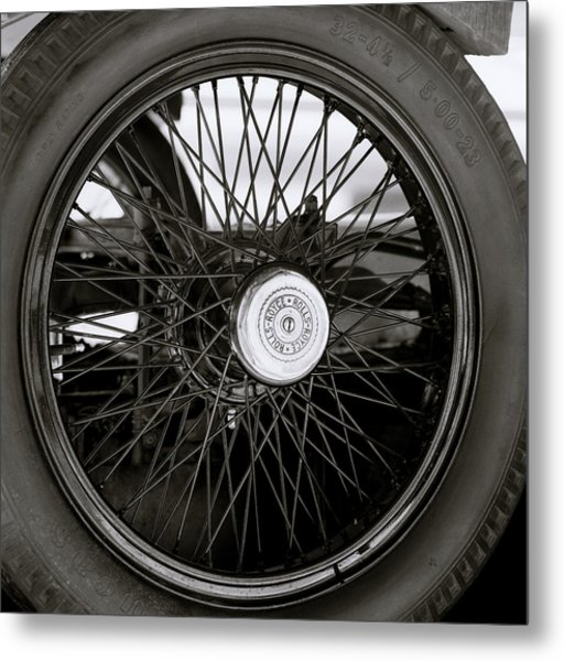 Rolls Royce Wheel Metal Print