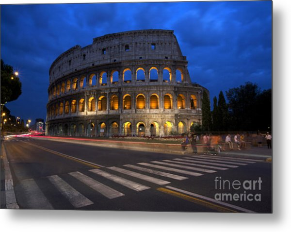 Roma Di Notte - Rome By Night Metal Print