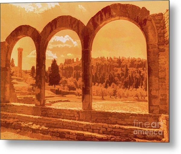 Roman Arches At Fiesole Metal Print