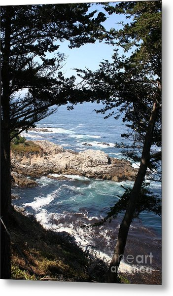 Romantic California Coast Metal Print