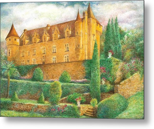 Romantic French Chateau Metal Print