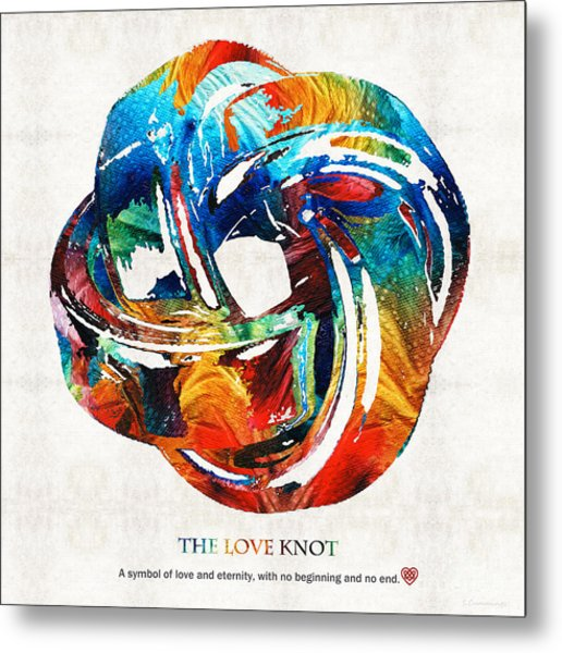 Romantic Love Art - The Love Knot - By Sharon Cummings Metal Print