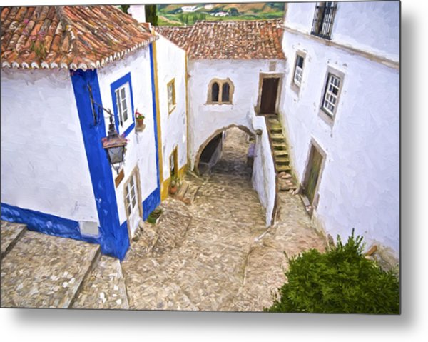 Romantic Obidos Metal Print