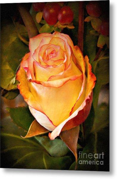 Romantic Rose Metal Print by Lutz Baar