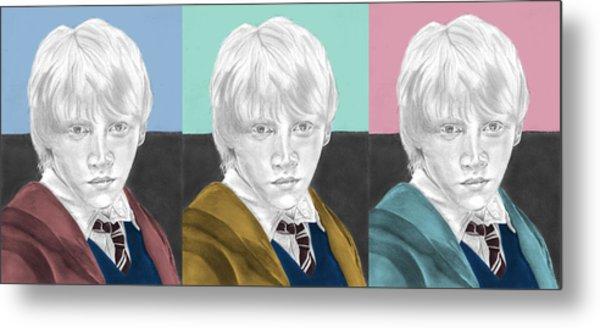 Ron Weasley - 3up One Print  Metal Print by Alexander Gilbert