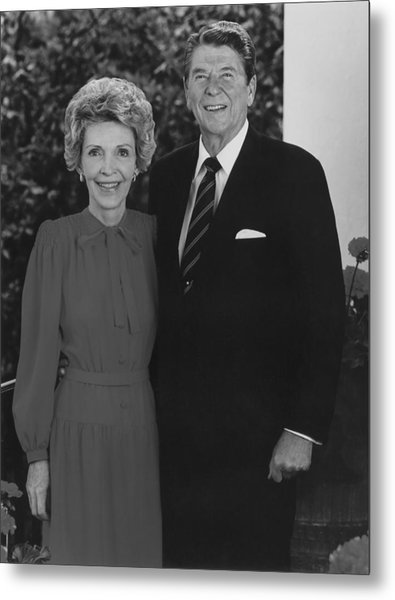 Ronald And Nancy Reagan Metal Print