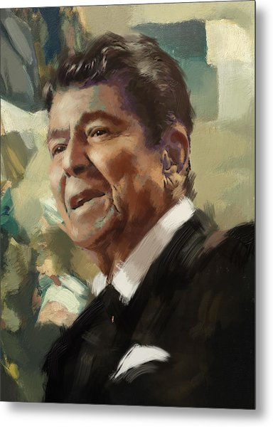 Ronald Reagan Portrait 5 Metal Print