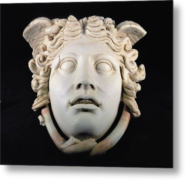 Rondanini Medusa, Copy Of A 5th Century Bc Greek Marble Original, Roman Plaster Metal Print