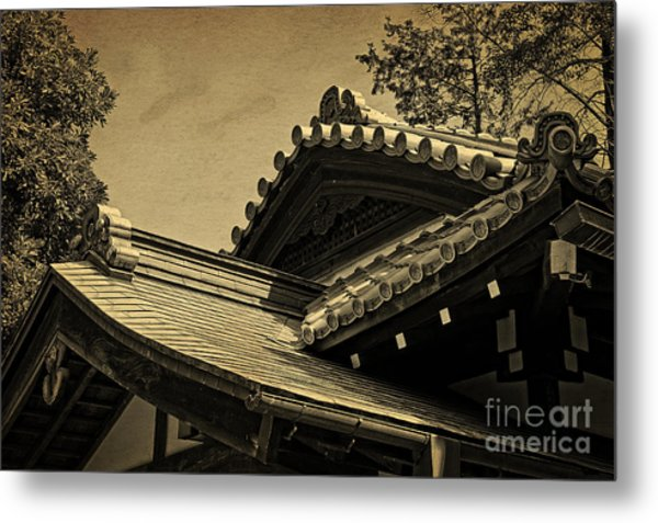 Roof Tile Details Of A Buddhist Temple I Metal Print