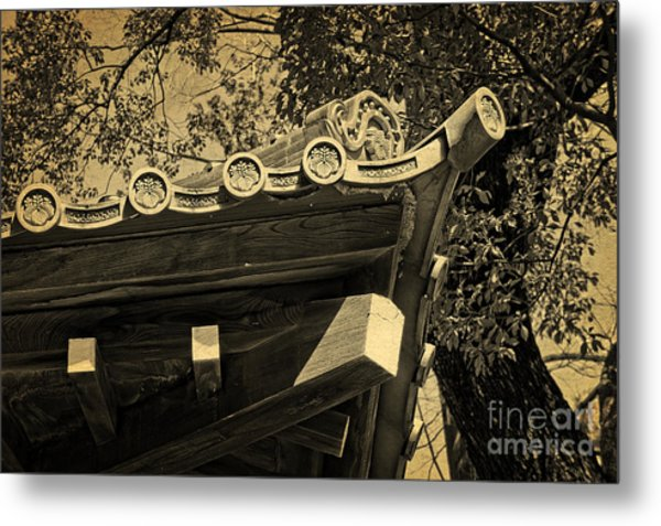 Roof Tile Details Of A Buddhist Temple II Metal Print