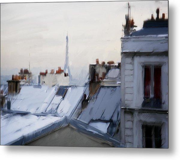 Rooftops Of Paris Metal Print