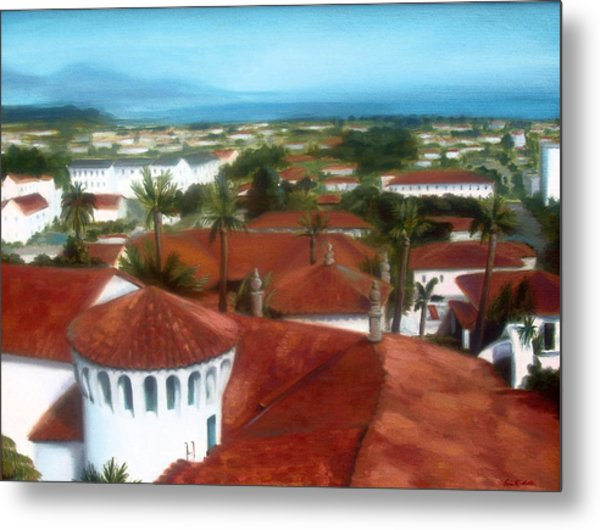 Rooftops Of Santa Barbara Metal Print