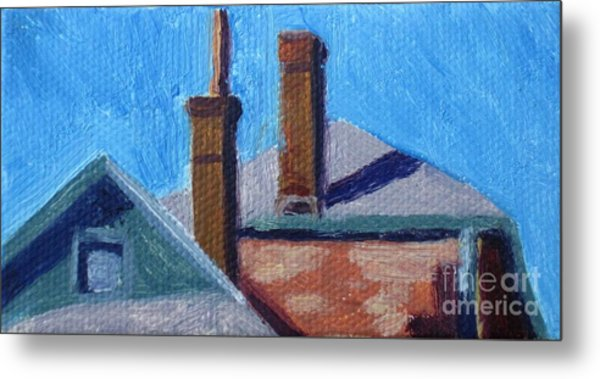 Rooftops On State Metal Print by Katrina West