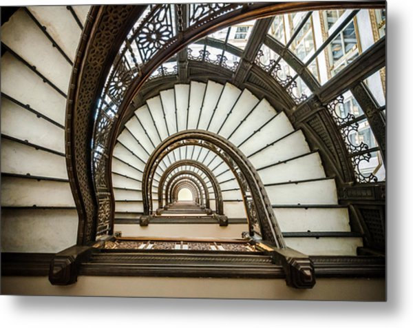 Rookery Building Oriel Staircase Metal Print