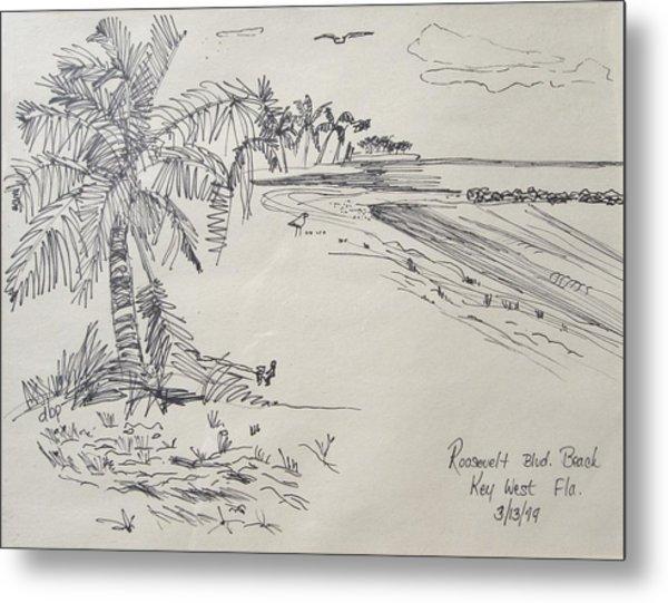 Roosevelt Blvd Beach  Key West Fla Metal Print