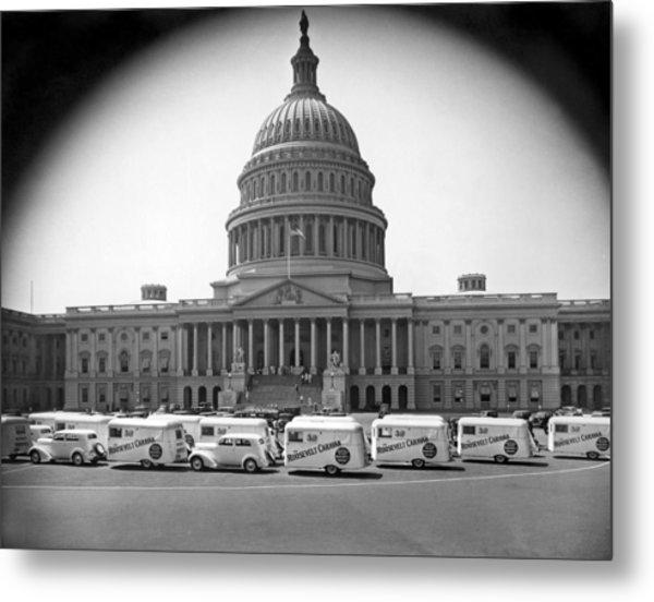 Roosevelt Caravan Trailers Metal Print