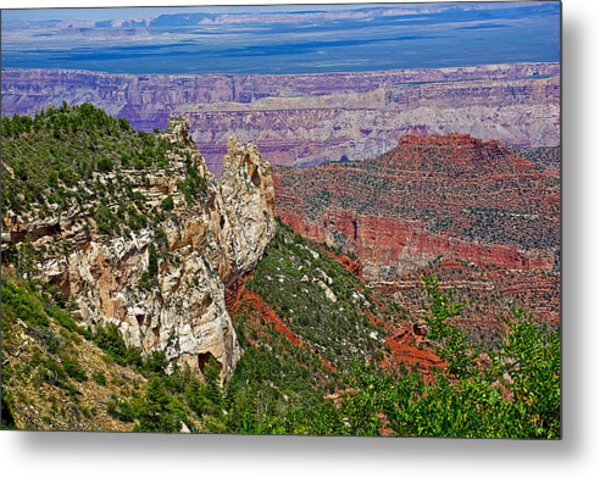 Roosevelt Point Two On North Rim/grand Canyon National Park-arizona   Metal Print
