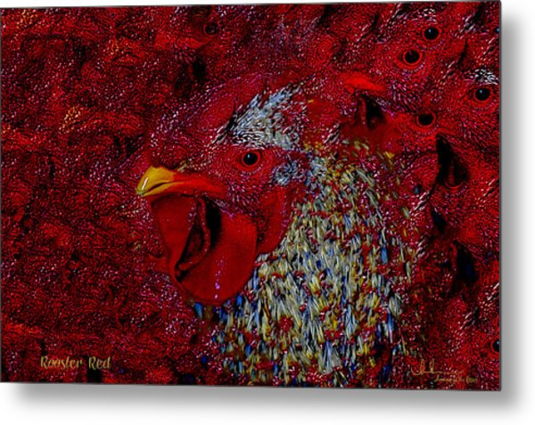 Rooster Red Metal Print