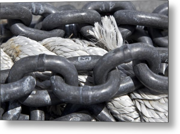 Rope And Chain Metal Print