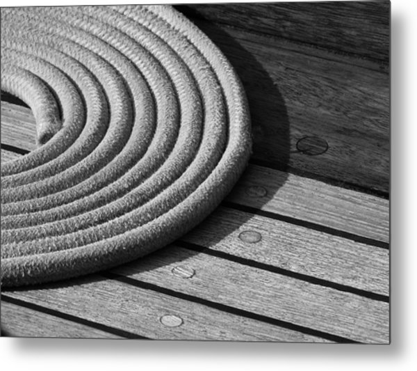 Rope Coil Metal Print by Tony Grider
