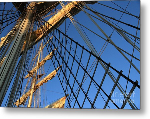 Ropes And Flags Metal Print