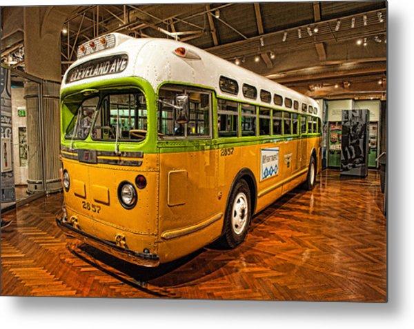 Rosa Parks Bus Metal Print
