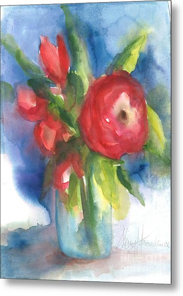 Rose Blooming Metal Print
