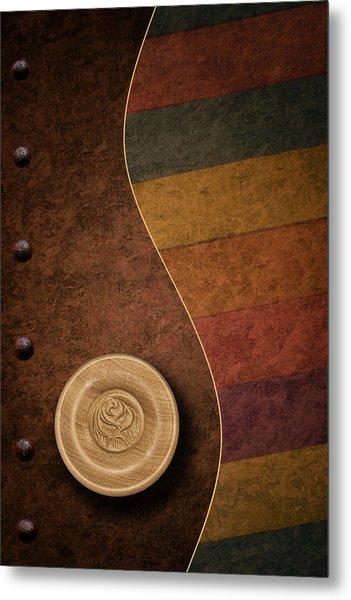 Rose Button Metal Print