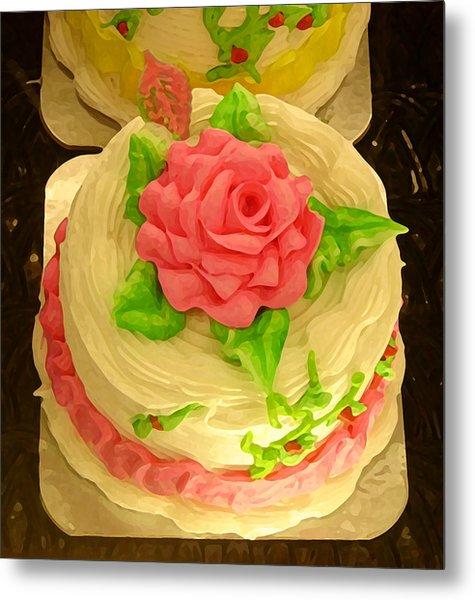 Rose Cakes Metal Print
