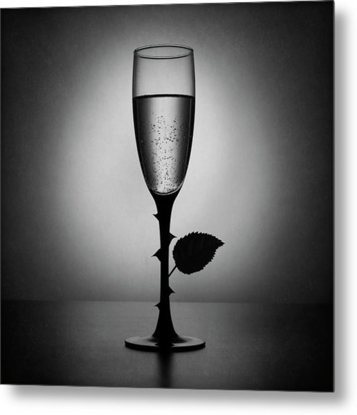 Rose Champagne(an Improved Version) Metal Print by Victoria Ivanova
