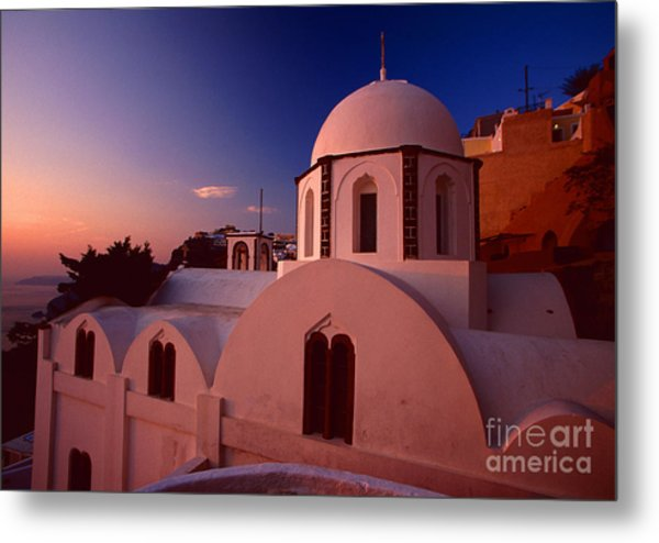 Rose Color Church Metal Print
